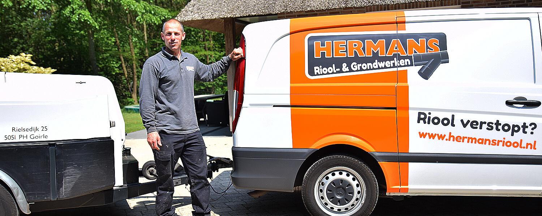 Hermans Riool ontstoppen, reinigen, aanleggen en inspecteren